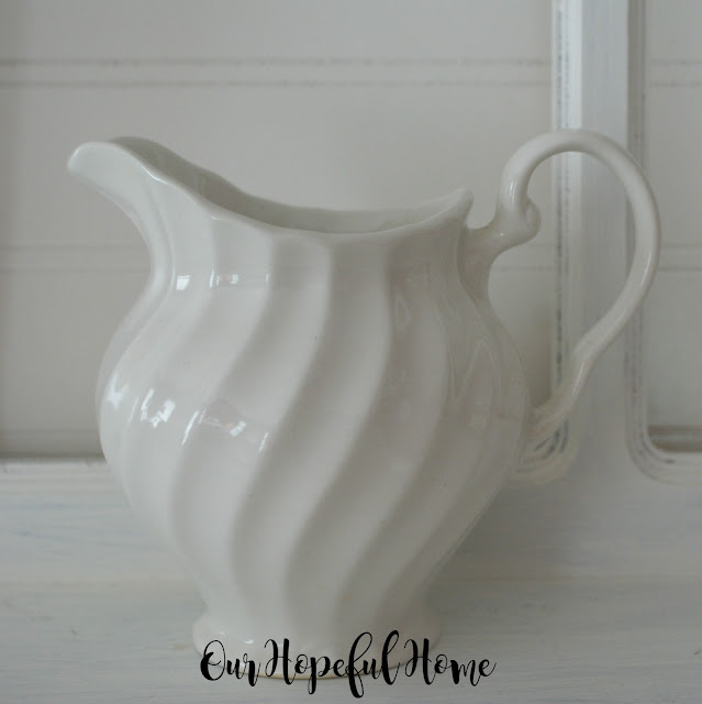 vintage Made in England white china creamer