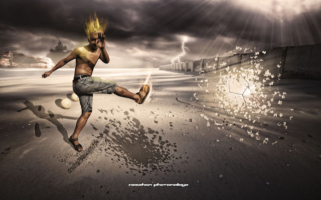 photo manipulation kaki bola