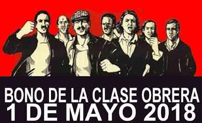 bono del dia de los trabajadores 1 de mayo 2018