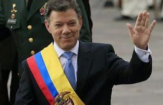 Colombia president, Juan Manuel Santos
