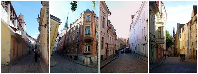 Tallinn Estonia Streets Hanseatic Vanalinn City Centre