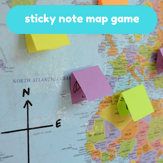 Practical Mom Best of 2016: Sticky Note Map Game