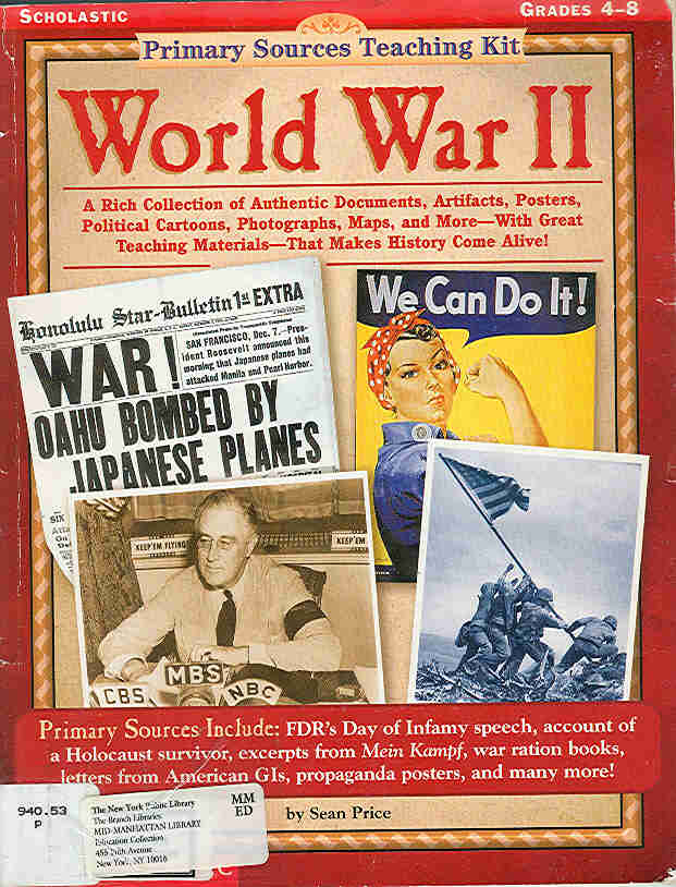 The Children's War: Primary Sources Teaching Kit World War II by ...