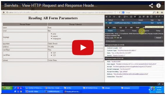 JAVA EE: View HTTP Request and Response Header - Firefox