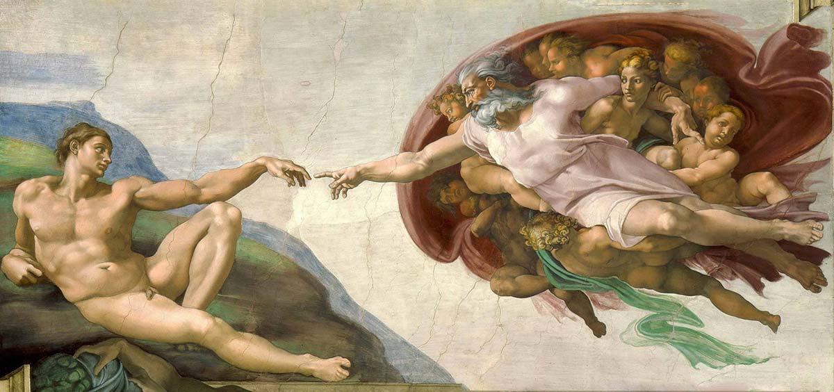 Самые популярные картины в мире – Сотворение Адама