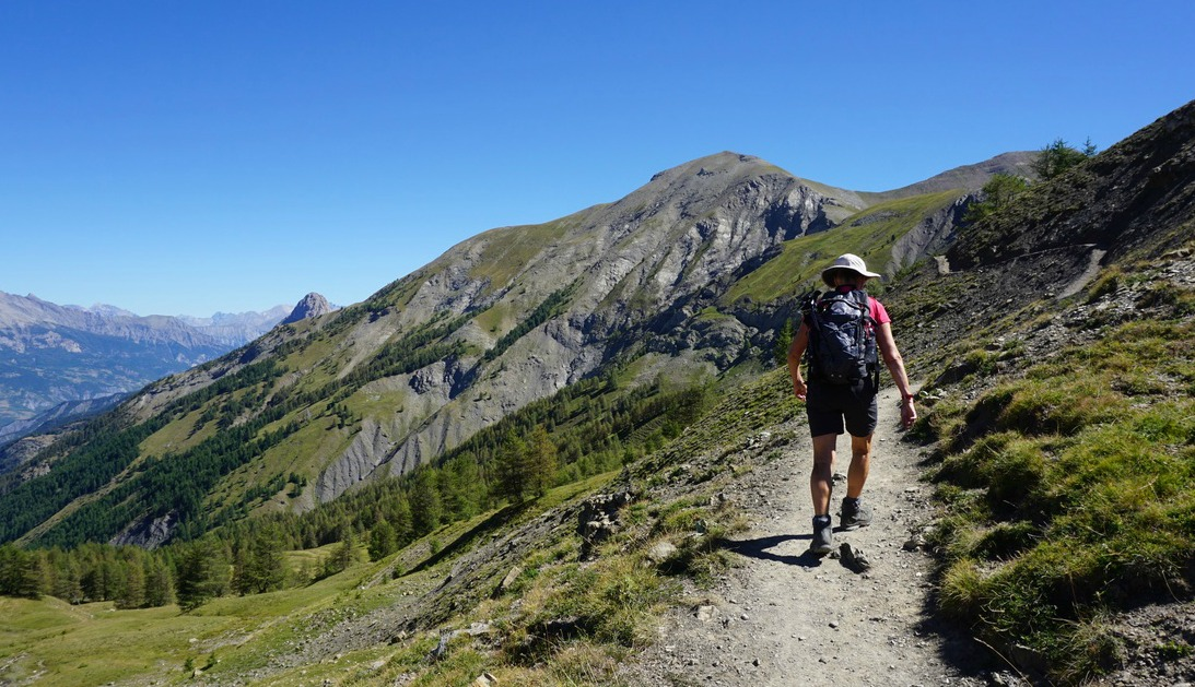 GR56 trail just above Col d'Allos