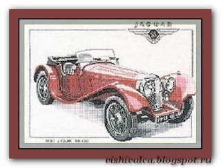 "Heritage Crafts Серия: Cars ""CJG117 1937 Jaguar SS100"""