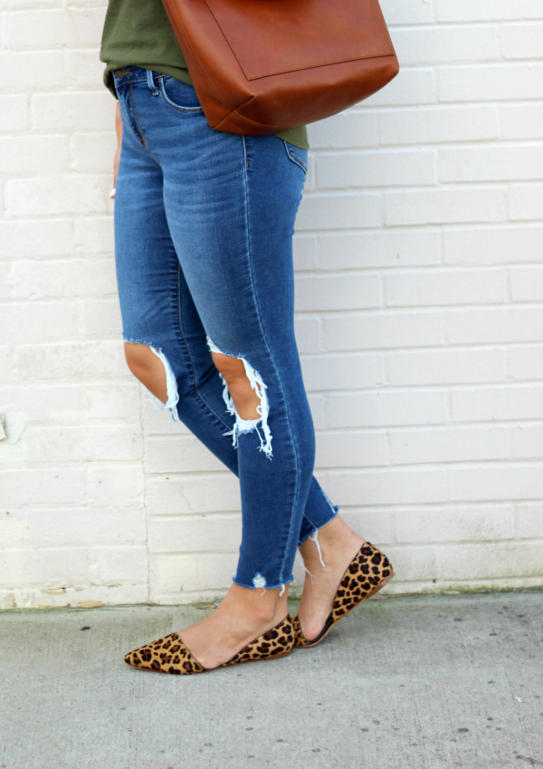 sugarfix by baublebar, north carolina blogger, fall fashion, style on a budget, how to style leopard flats