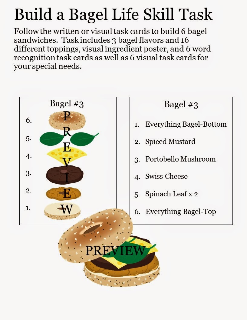 Build a Bagel Life Skill Task