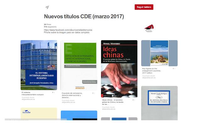 Nuevos títulos CDE (Marzo 2017)