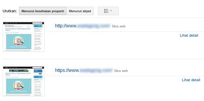 Membuat Properti Baru Versi HTTPS pada Google Search Console