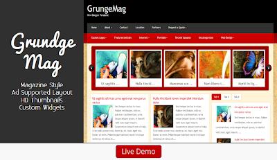 GrungeMag Blogger Template