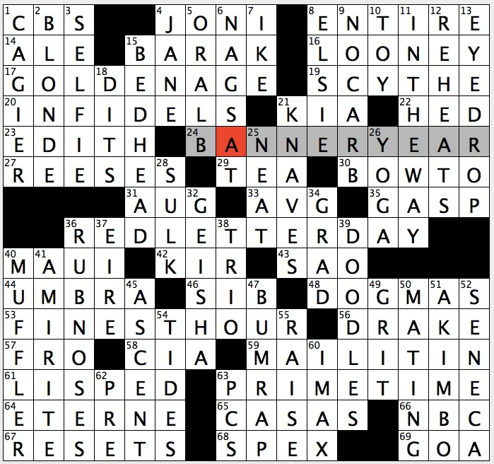 Rex parker does the nyt crossword puzzle aperitif with black theme prime time 63a when tv viewership peaks or a hint to 17 24 36 and 53 across some answers that are like good times ccuart Choice Image
