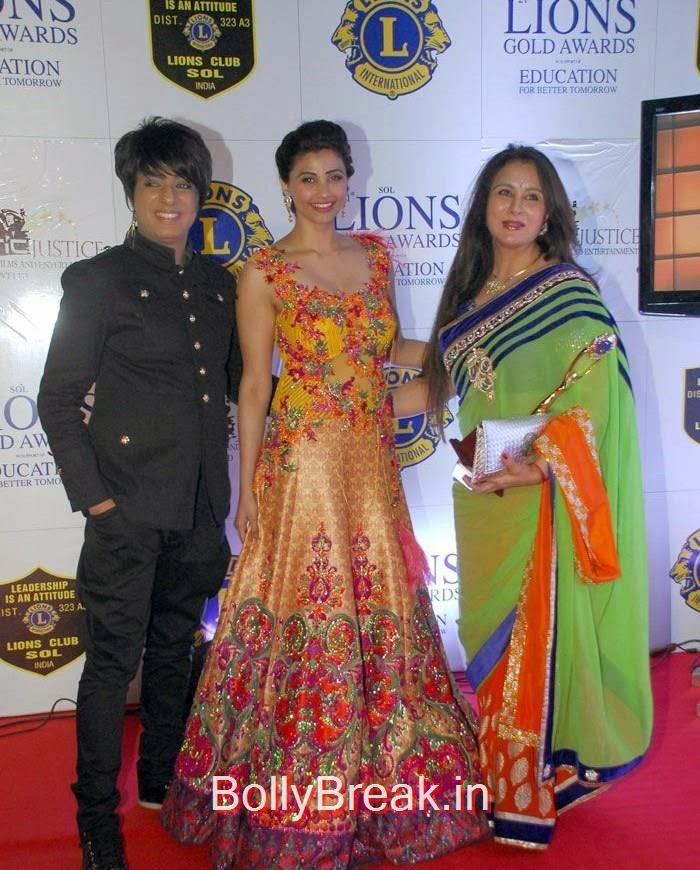 21 Lions Gold Awards, Hot Pics Of Daisy Shah In Lehenga At 21 Lions Gold Awards 2015