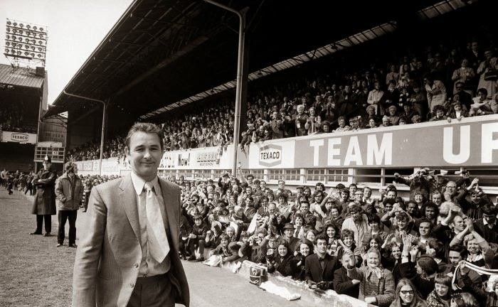 Brian Clough en el Baseball Ground de Derby
