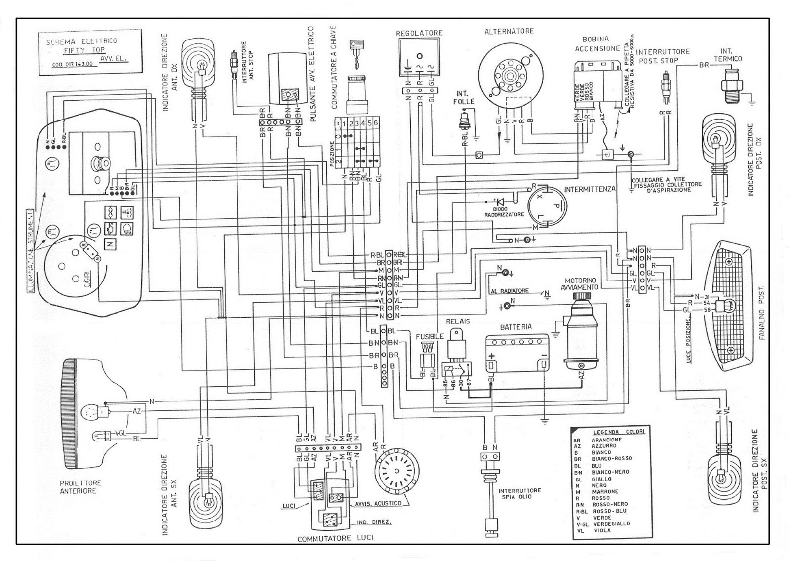Schema Elettrico Yamaha Top : Malaguti fifty schema elettrico top