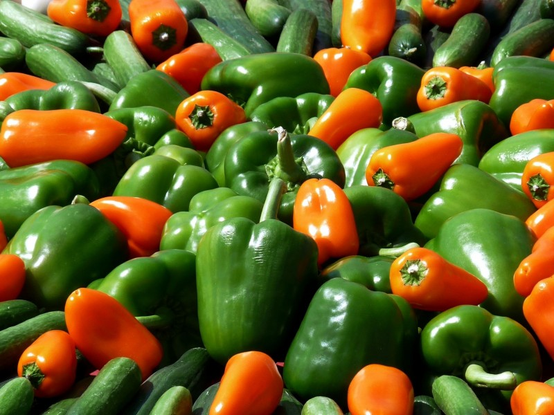 Download Red and Orange Bell Peppers HD wallpaper. Click Visit page Button for More Images.
