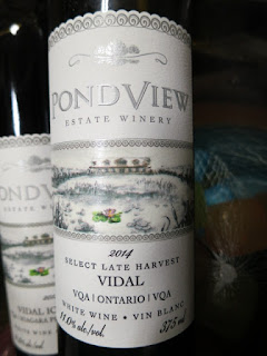 PondView Select Late Harvest Vidal 2014 - VQA Ontario, Canada (89 pts)