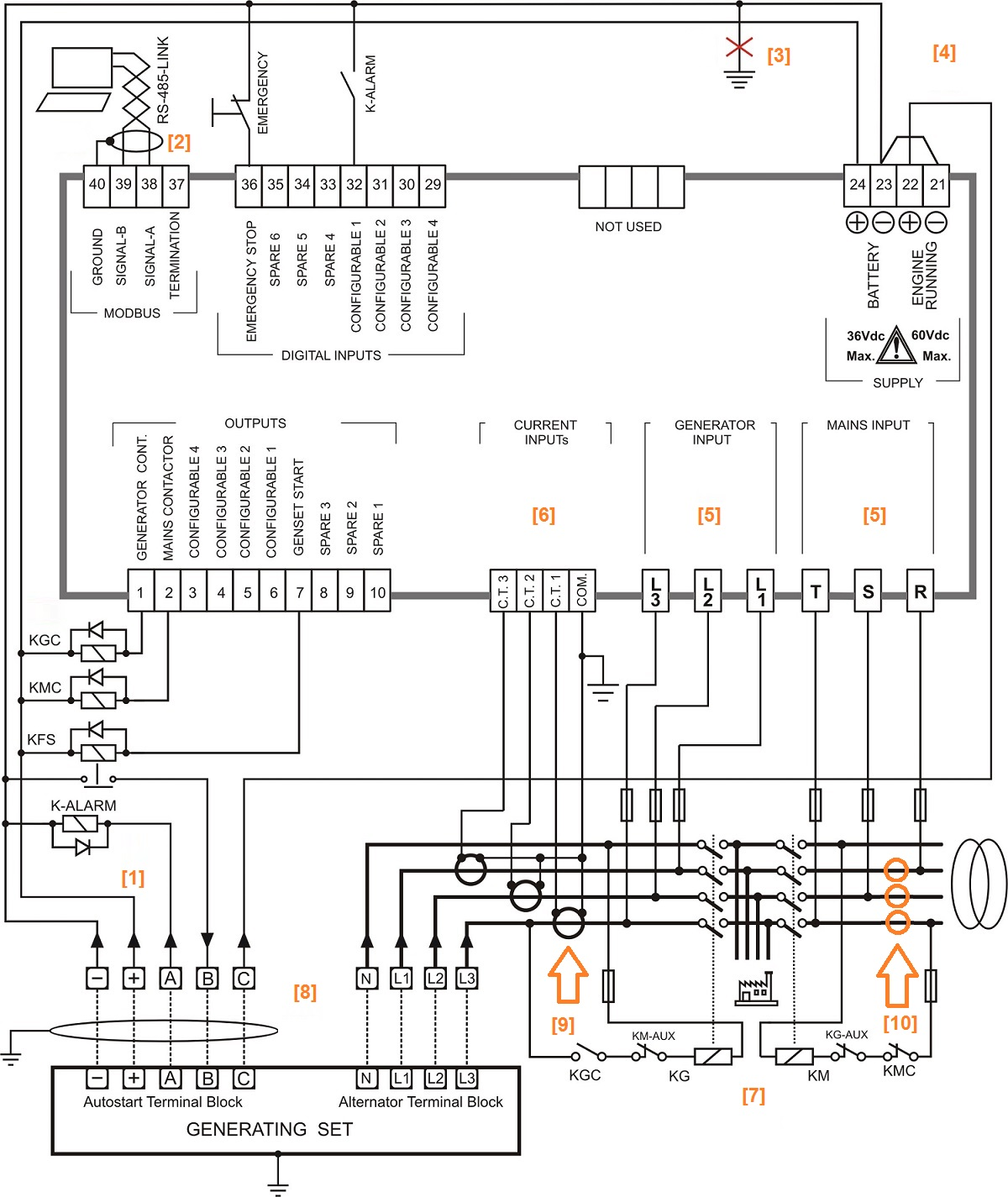 schema electrique relais inverseur
