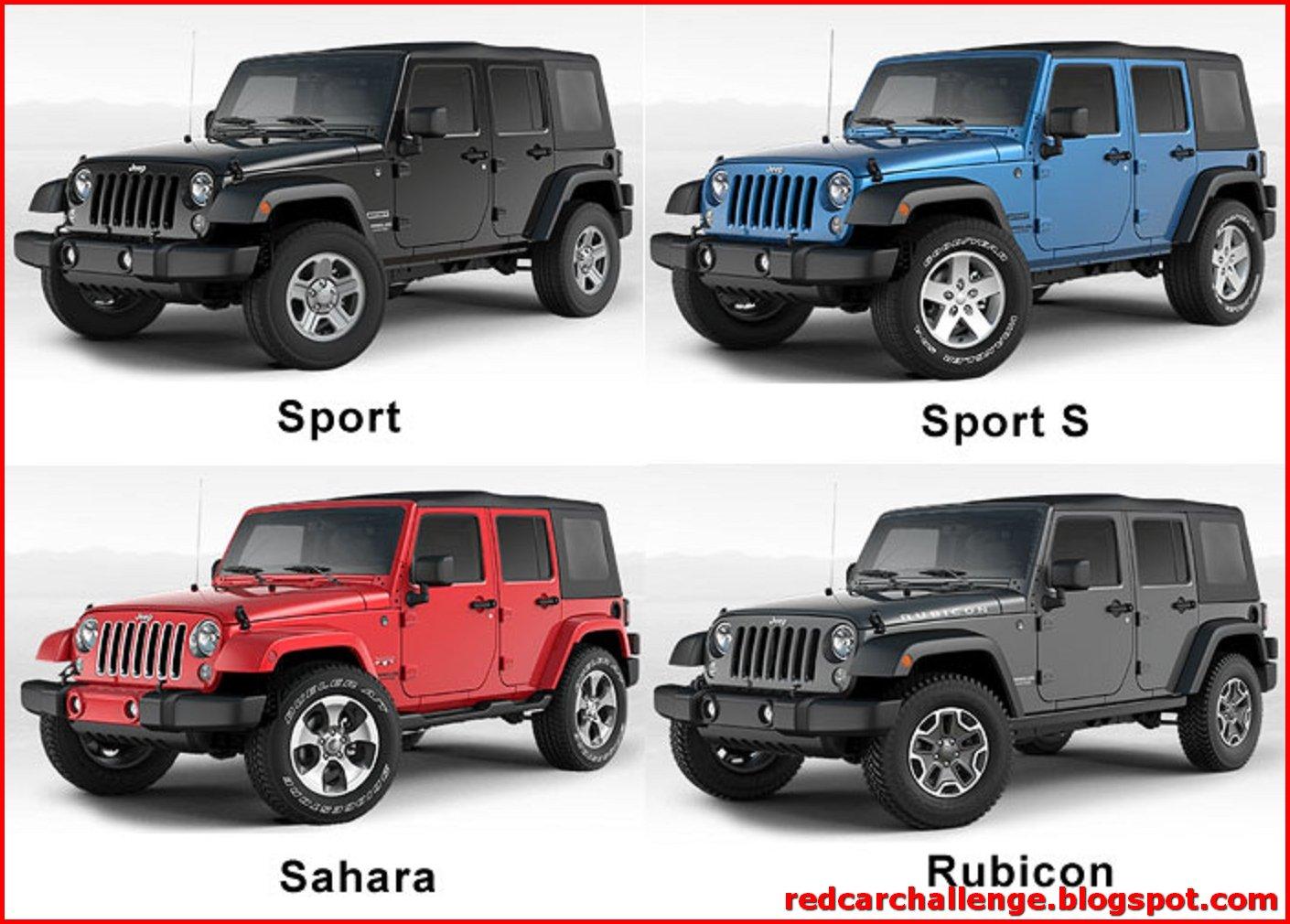 Jeep Wrangler Unlimited Model Differences