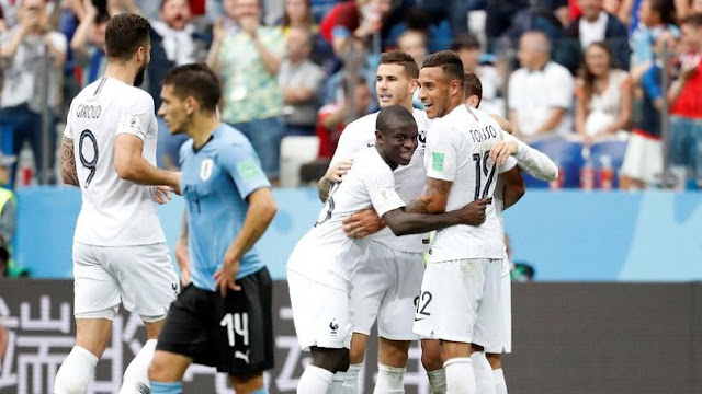 Piala Dunia 2018: Kalahkan Uruguay 2-0, Prancis Melangkah ke Semifinal
