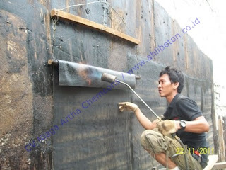 waterproofing membrane pada dinding basement
