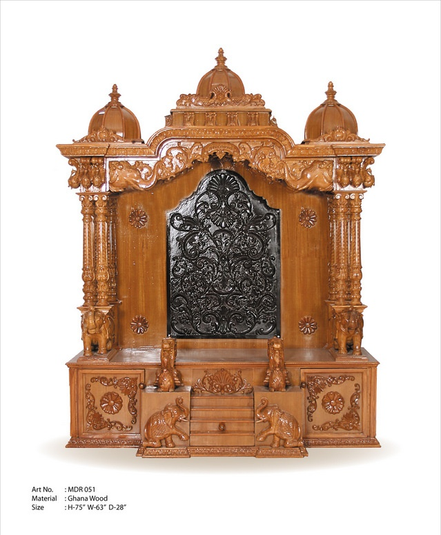 20 Mandir Designs For Indian Homes: Kerala Style Carpenter Works And Designs: Decorating Pooja