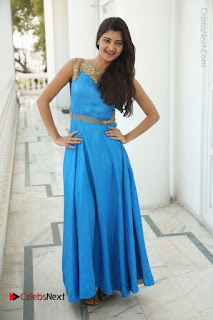 Telugu Actress Akshita (Pallavi Naidu) Latest Stills in Blue Long Dress at Inkenti Nuvve Cheppu Movie Promotions  0085.jpg