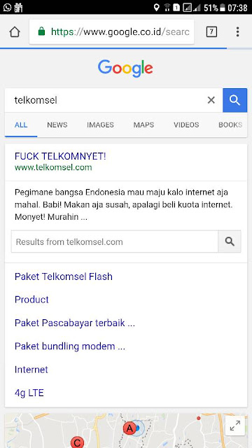 Heboh !!!! Web Telkomsel Di Hajar Hacker