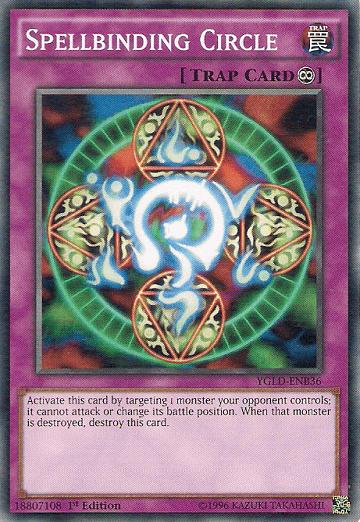 Spellbinding Circle dijadikan artwork kartu Exodia