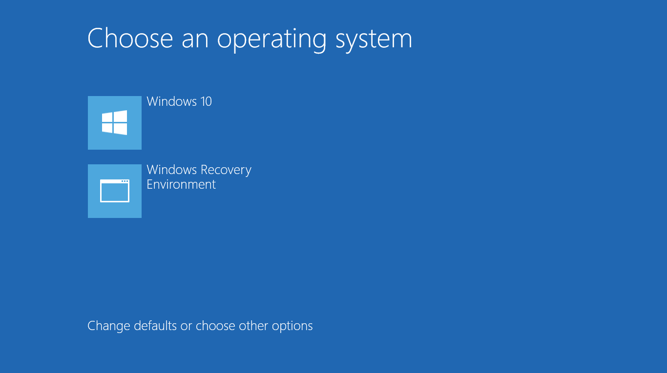 Cách tích hợp Windows Recovery Environment (Windows RE) vào menu boot Windows 10