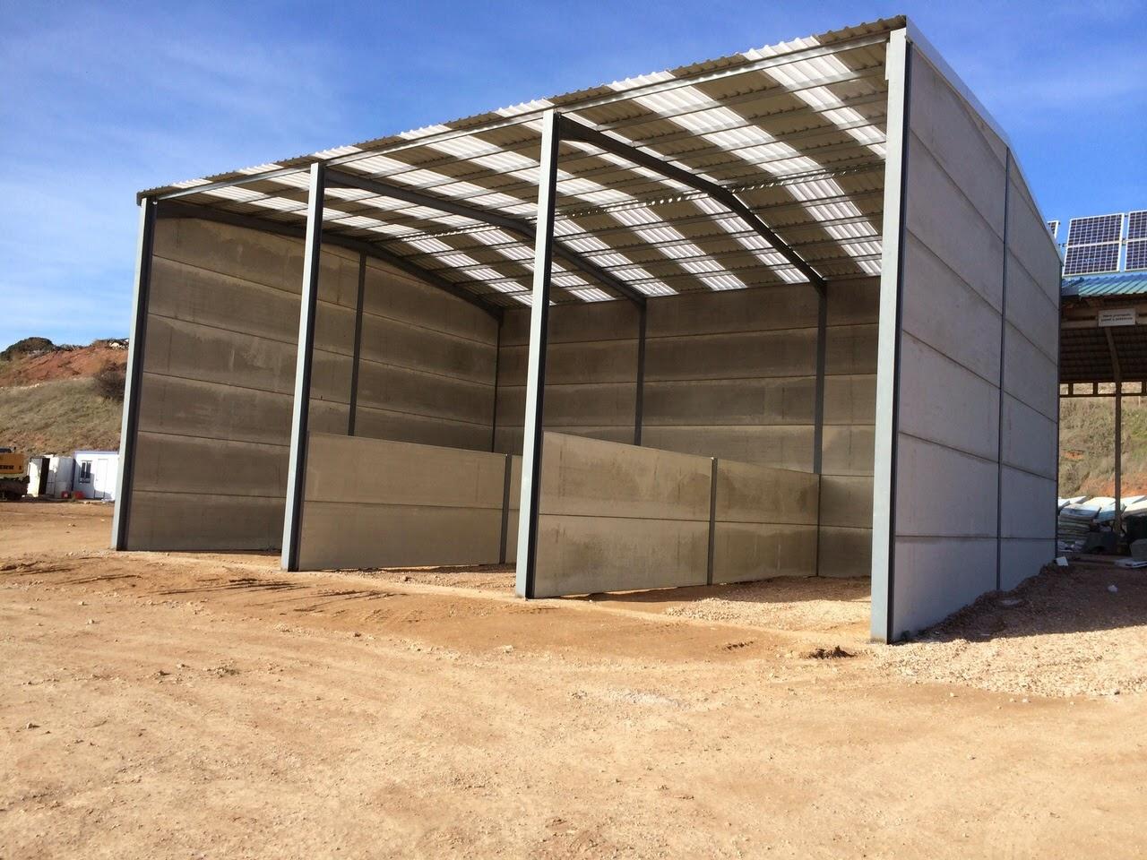 Separadores de hormig n doble muro en hormig n o muros de for Cobertizos de jardin baratos