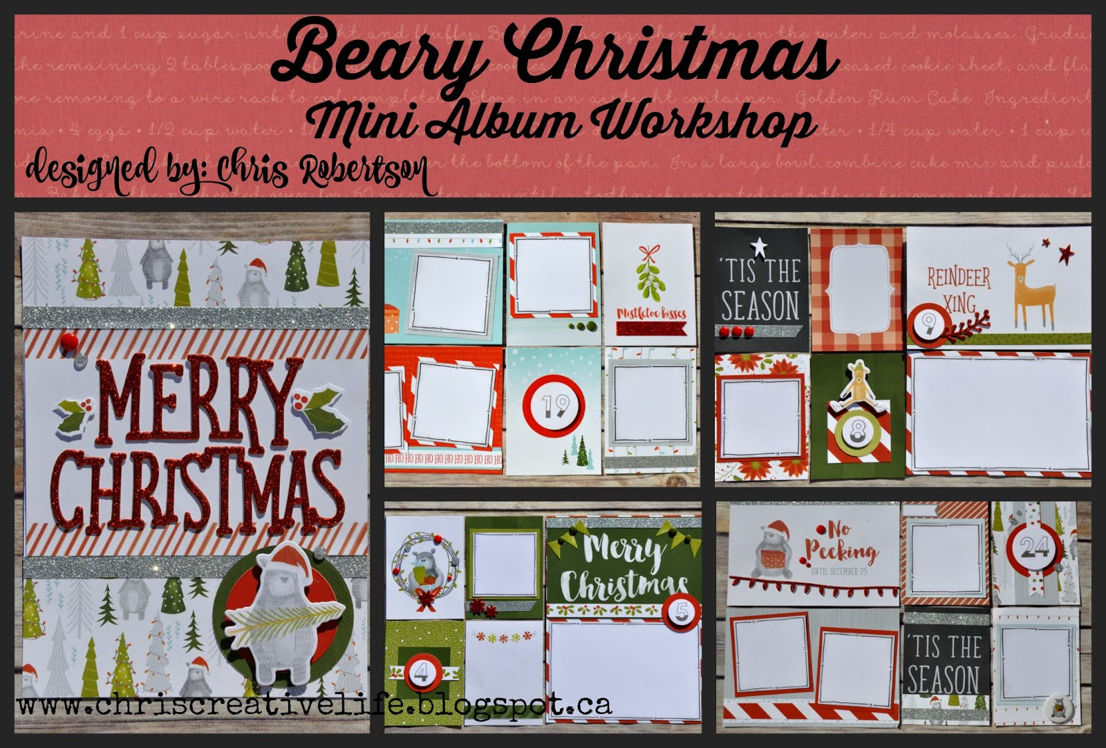 Beary Christmas Mini Album