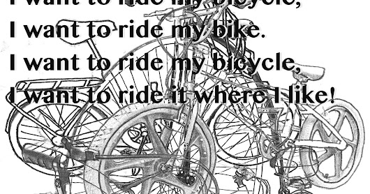 I want to ride my bicycle illustration