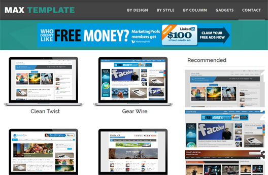 Max template is specially designed for blogger theme designers to showcase their work in a professional manner.