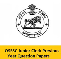 OSSSC Junior Clerk Previous Year Question Papers