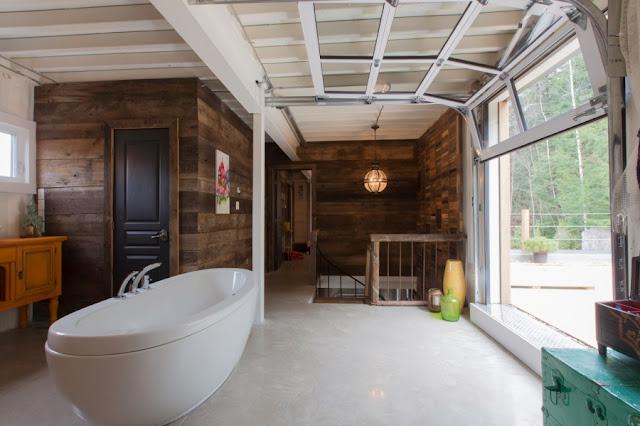 ванная посреди комнаты