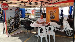 Evento en el centro comercial la 14 en Cali. Exhibición de motocicletas SYM