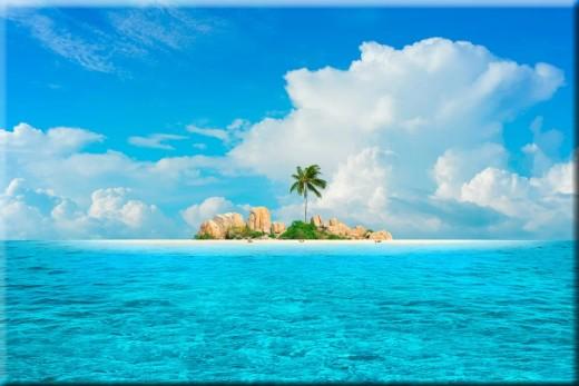 Aqua Ocean Photo Tropical Canvas