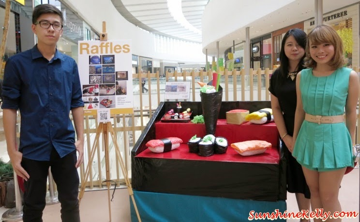 Recycle Sushi, Tokyo Street Earth Month, raffles college, Mother Nature, Art exhibition, pavilion kl, recycle material, recycle art