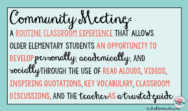 classroom routines for morning meeting definitions