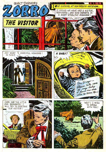 Zorro Four Color #960 1950s dell comic book page art by Alex Toth