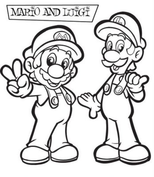 Super Mario Bros Coloring Pages Team Colors