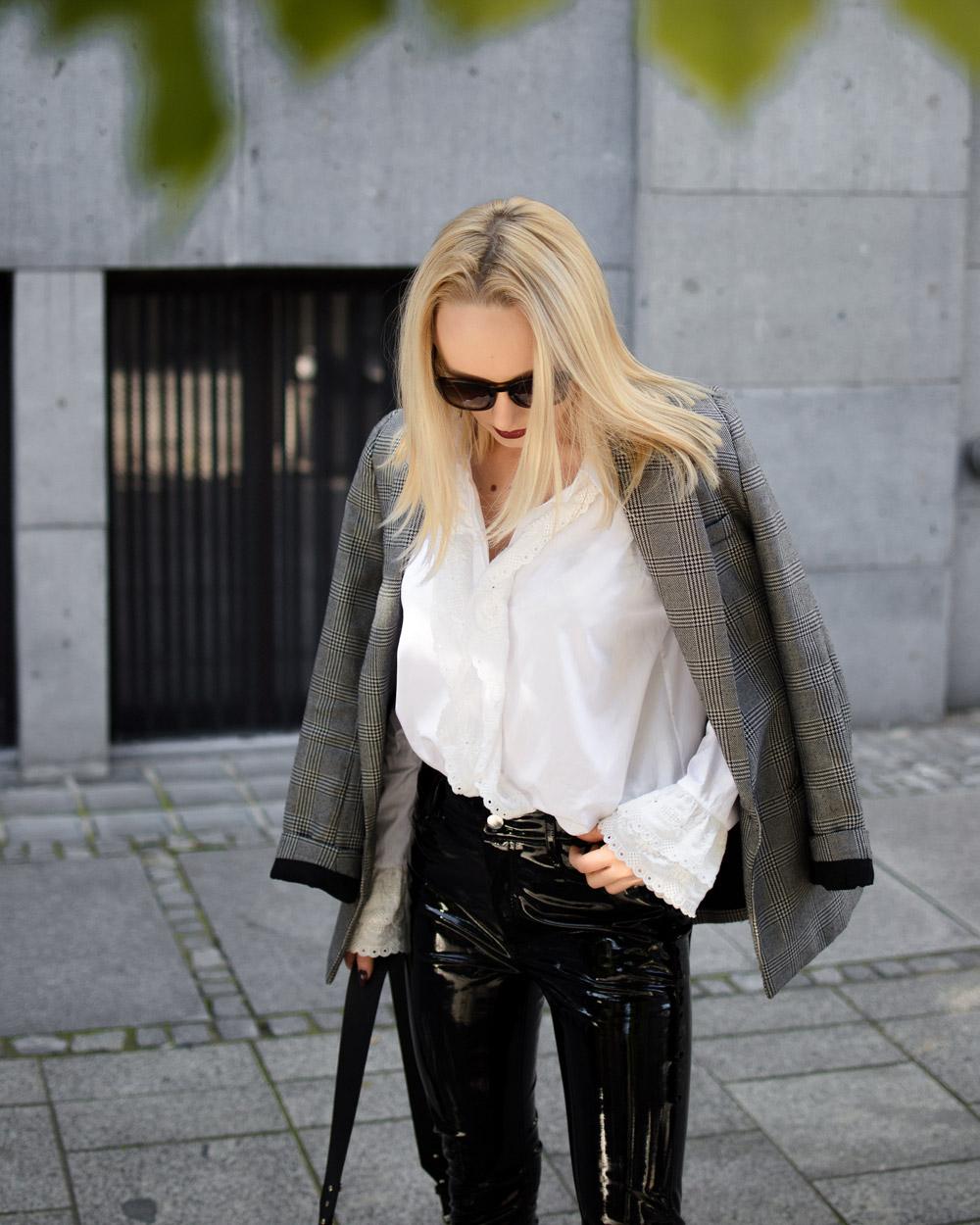 Winylowe spodnie stylizacja 6