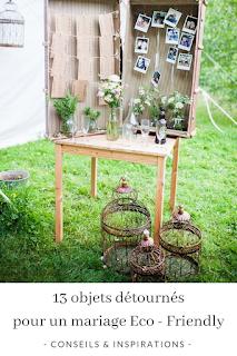 inspirations objets détournés pour un mariage éco-friendly blog mariage www.unjourmonprinceviendra26.com