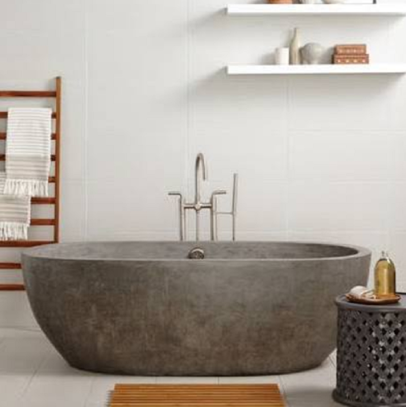 Concrete Bathtub