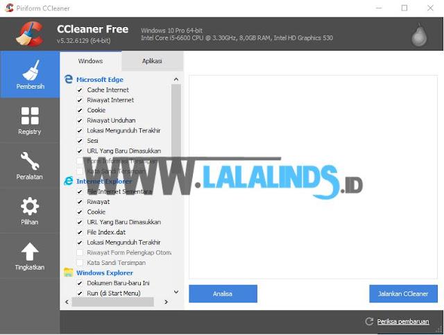 Download CCleaner 5.32.6129 Gratis Terbaru Offline Installer