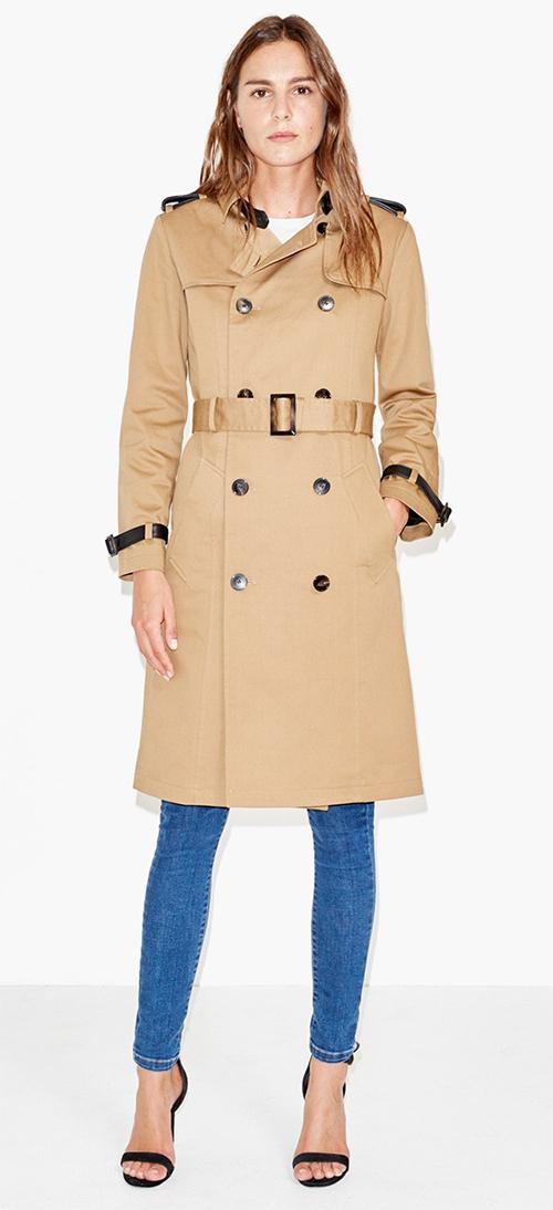 Trench coat en cuir beige The kooples