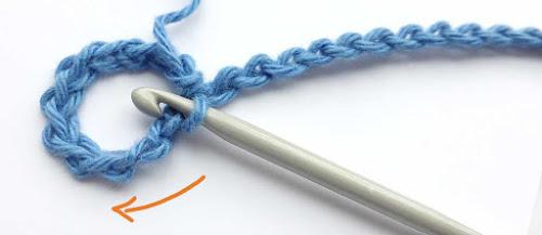 Crochet around the eye
