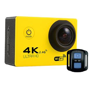 Camera Hành trình đi phượt 4k ultra HD wifi có remote